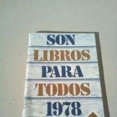 Catálogos publicitarios: CATALOGO EDITORIAL PLAZA Y JANES AÑO 1978. Lote 145016050