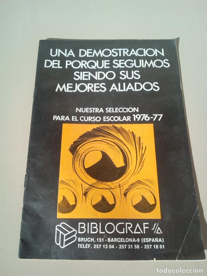 CATALOGO BIBLIOGRAF AÑO 1977 (Coleccionismo - Catálogos Publicitarios)