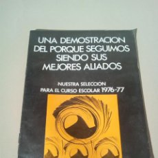 Catálogos publicitarios: CATALOGO BIBLIOGRAF AÑO 1977. Lote 145018570