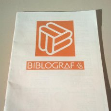 Catálogos publicitarios: CATALOGO BIBLIOGRAF AÑO 1977. Lote 145018642