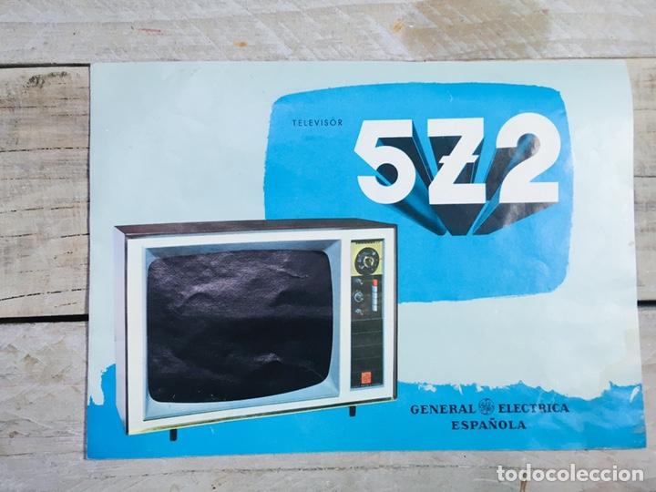 FOLLETO PUBLICIDAD TELEVISIÓN ANUNCIO GENERAL ELECTRICA ESPAÑOLA TV VINTAGE TELEVISOR (Coleccionismo - Catálogos Publicitarios)