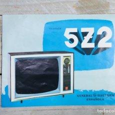 Catálogos publicitarios: FOLLETO PUBLICIDAD TELEVISIÓN ANUNCIO GENERAL ELECTRICA ESPAÑOLA TV VINTAGE TELEVISOR. Lote 145039758
