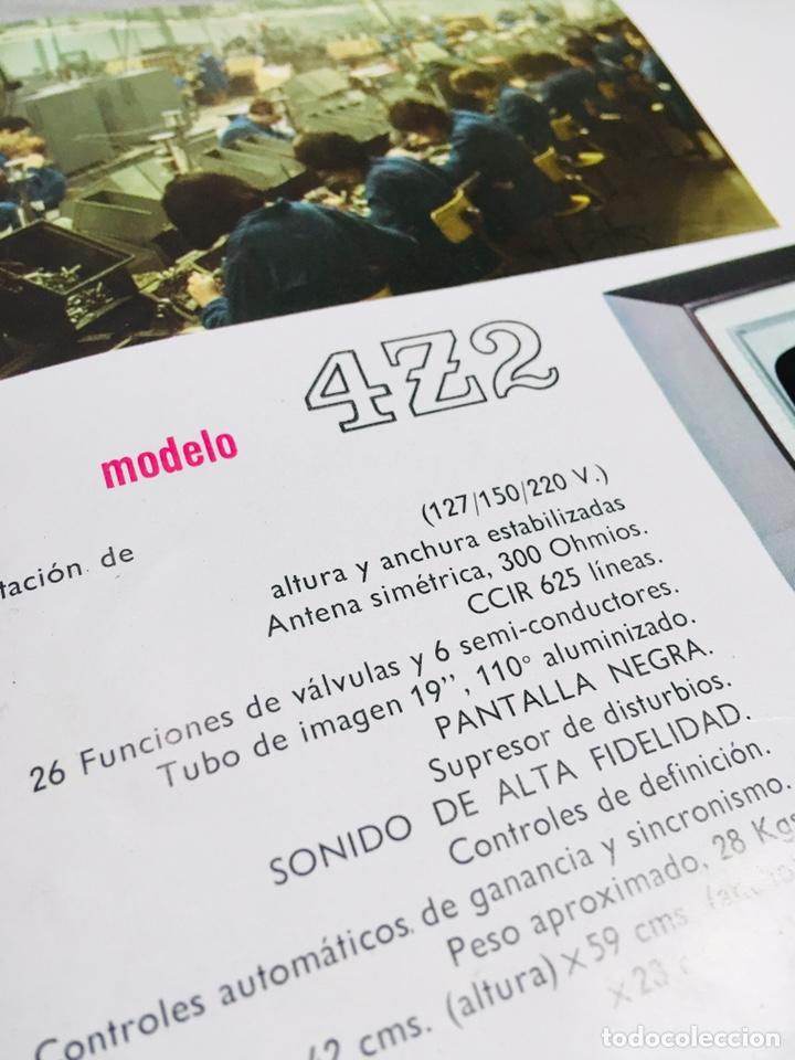 Catálogos publicitarios: FOLLETO PUBLICIDAD TELEVISIÓN ANUNCIO GENERAL ELECTRICA ESPAÑOLA TV VINTAGE TELEVISOR - Foto 2 - 145039758