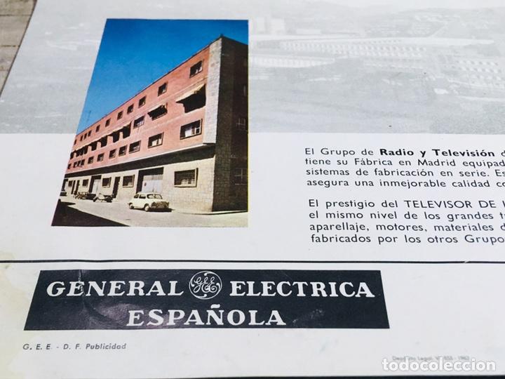Catálogos publicitarios: FOLLETO PUBLICIDAD TELEVISIÓN ANUNCIO GENERAL ELECTRICA ESPAÑOLA TV VINTAGE TELEVISOR - Foto 5 - 145039758