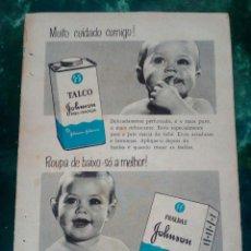 Catálogos publicitarios: VINTAGE PUBLICIDADE JOHNSON&JOHNSON 1957. Lote 145167166
