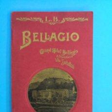 Catálogos publicitarios: ANTIGUO LIBRITO PROPAGANDA HOTEL GRAN BELLAGIO.. Lote 172083624