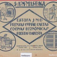 Catálogos publicitarios - ESTUFA J.M.B PRENSAS,COPIAR CARTAS, COCINAS ECONÓMICAS, PUERTAS BALLESTA. PB160 - 146054226