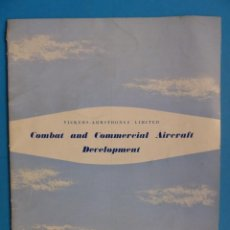 Catálogos publicitarios: CATALOGO AVIONES - VICKERS-ARMSTRONGS LIMITED - COMBAT AND COMMERCIAL AIRCRAFT - AÑO 1948. Lote 146211250