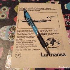 Catálogos publicitarios: ANTIGUO ANUNCIO PUBLICIDAD PARA ENMARCAR VUELOS LUFTHANSA. Lote 146289322
