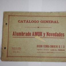 Catálogos publicitarios: CATALOGO DE ALUMBRADOS AMOR Y NOVEDADES.BARCELONA 1913-14. Lote 146405598