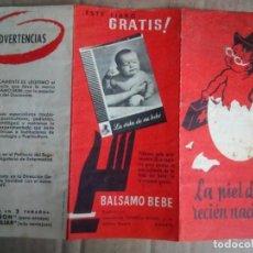 Catálogos publicitarios: BÁLSAMO BEBE, ANTIGUA PUBLICIDAD, LABORATORIOS FEDERICO BONET. Lote 146513862