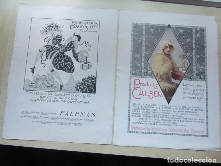 5 PÁGINAS DE PUBLICIDAD DE LA REVISTA LA ESFERA (AÑOS 20) 36X 27,5 CMS VER DESCRIPCIÓN (Coleccionismo - Catálogos Publicitarios)