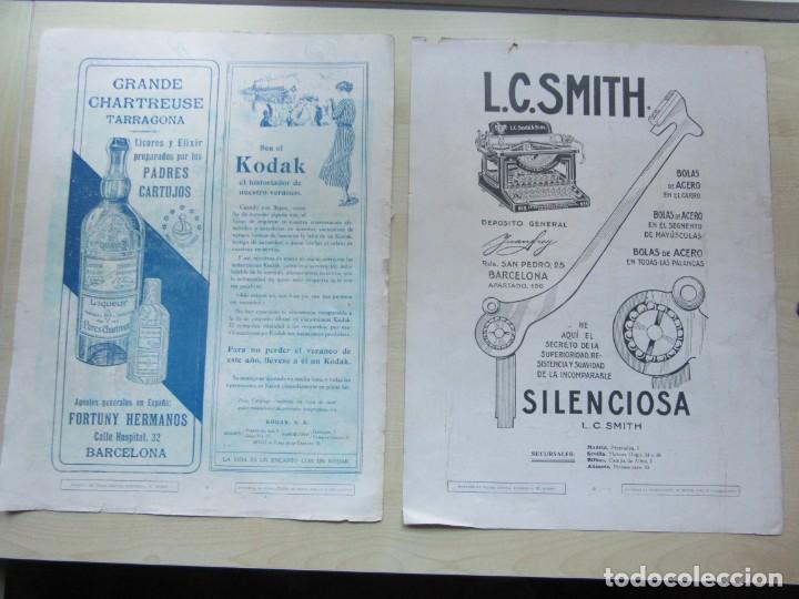 Catálogos publicitarios: 5 páginas de publicidad de la revista La Esfera (años 20) 36x 27,5 cms Ver descripción - Foto 2 - 146606490