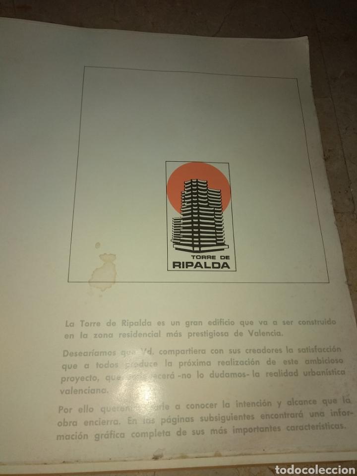 Catálogos publicitarios: Memoria de Calidades - Planos de Compra de Pisos Torre Ripalda - La Pagoda - Valencia 1973 - - Foto 2 - 146878773