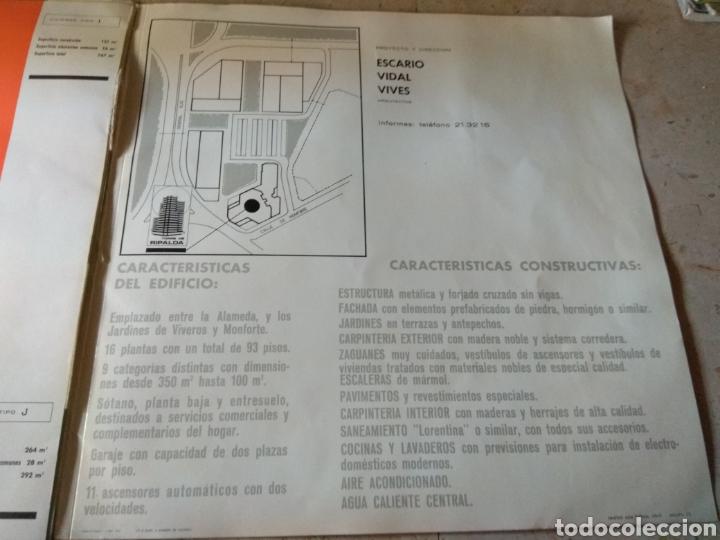 Catálogos publicitarios: Memoria de Calidades - Planos de Compra de Pisos Torre Ripalda - La Pagoda - Valencia 1973 - - Foto 15 - 146878773