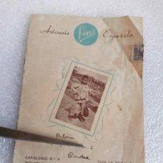 Catálogos publicitarios: ARTESANIA FINA ESPAÑOLA CATALOGO 4 1950 CATALOGO DE MARCOS PARA ESPEJOS - MUEBLES VINTAGE. Lote 146928342