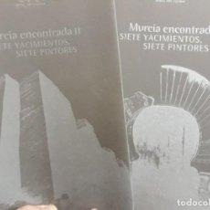 Catálogos publicitarios: CATÁLOGOS I Y II EXPOSICIÓN MURCIA ENCONTRADA: SIETE YACIMIENTOS, SIETE PINTORES MURCIA MUSEO CIUDAD. Lote 147063610