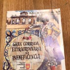 Catálogos publicitarios: LIBRILLO PROGRAMA DE TOROS 1986. Lote 147577354