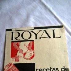 Catálogos publicitarios: ROYAL RECETAS DE REPOSTERÍA. FOLLETO DESPLEGABLE MEDIDA 15 X 18 CM -. Lote 147689286