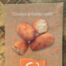 Catálogos publicitarios: CATÁLOGO LACROKET CROQUETES D'AUTOR. Lote 148001766