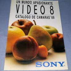 Catálogos publicitarios: CATALOGO DE SONY VIDEO 8 AÑO 1988 ORIGINAL VER FOTO Y DESCRIPCION. Lote 148200010