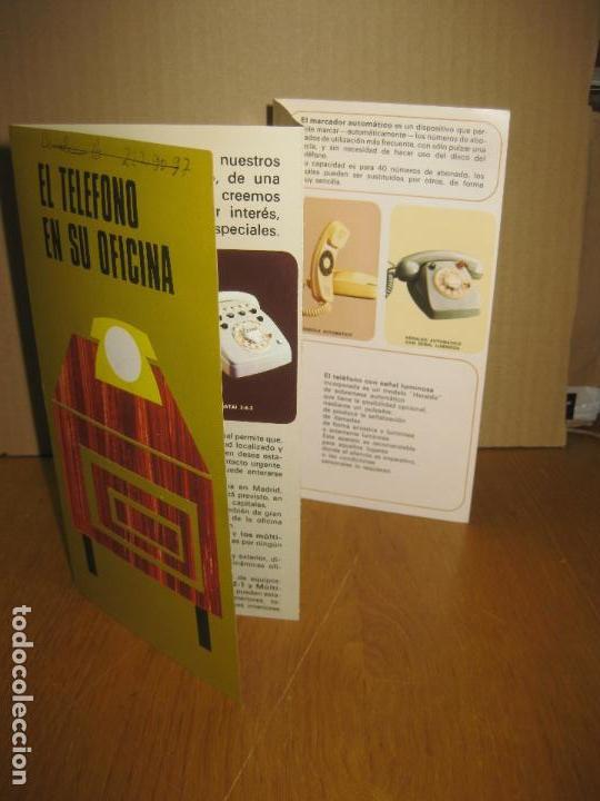 FOLLETO PUBLICITARIO TELEFONICA. EL TELEFONO EN SU OFICINA. 1971. (Coleccionismo - Catálogos Publicitarios)