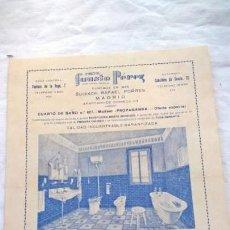 Catálogos publicitarios: HOJA PUBLICITARIA CASA FAUSTO PÉREZ, 16 X 22 CM. Lote 148518478