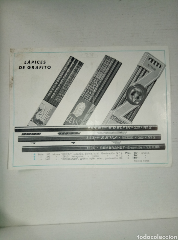 FOLLETO PUBLICIDAD LÁPICES GRAFITO Y AFILALAPICES HNOS VILA SIVILL (Coleccionismo - Catálogos Publicitarios)