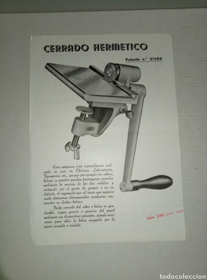 Catálogos publicitarios: Folleto publicidad Hnos Vila Sivill Cerrado hermético - Foto 2 - 148555809