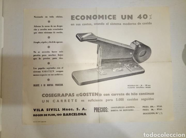 FOLLETO PUBLICIDAD HNOS VILA SIVILL COSEGRAPAS (Coleccionismo - Catálogos Publicitarios)