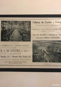 Publicidad Fábrica de Cardas y Correas 18x25 cm