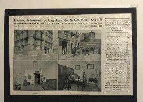 Publicidad Baños, gimnasio y esgrima de Manuel Solé 18x25 cm
