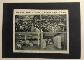 Publicidad Tejidos de lana y algodón Canals y Pares 18x25 cm