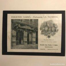 Catálogos publicitarios: PUBLICIDAD PERFUMERÍA LA FLORIDA. EUGENIO SARRÁ 18X25 CM. Lote 148841318