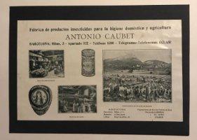 Publicidad Fábrica de productos insecticidas. Antonio Caubet