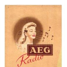 Catálogos publicitarios: CATÁLOGO PUBLICIDAD RADIOS AEG MODELO SUPER UNIVERSAL 423 GW. AÑOS 40 - 50. Lote 149234078