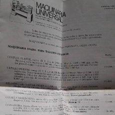 Catálogos publicitarios: FOLLETO PUBLICITARIO DE MAQUINARIA INDUSTRIAL-AÑO 1973. Lote 149583862