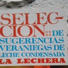 Catálogos publicitarios: RECETAS LECHE CONDENSADA LA LECHERA. Lote 149584542