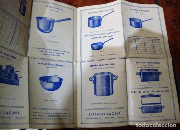 BONITO ANTIGUO CATALOGO CALDERERIA MODERNA EN COBRE Y HIERRO . SERRANO LACAVE . UTILES DE COCINA (Coleccionismo - Catálogos Publicitarios)