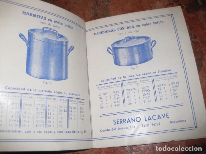 Catálogos publicitarios: bonito antiguo catalogo caldereria moderna en cobre y hierro . serrano lacave . utiles de cocina - Foto 3 - 150172002