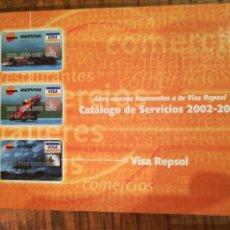 Catálogos publicitarios: CATÁLOGO DE SERVICIOS VISA REPSOL 2002-2003. Lote 150491674