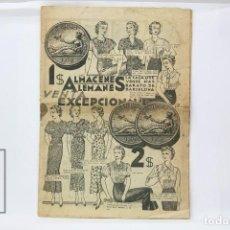 Catálogos publicitarios: ANTIGUO CATALOGO PUBLICITARIO - ALMACENES ALEMANES - BARCELONA - AÑOS 20. Lote 150970518
