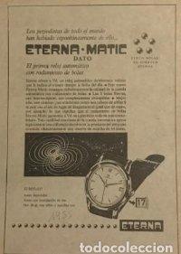 1955 Publicidad Eterna matic. Reloj automático. 18x25 cm