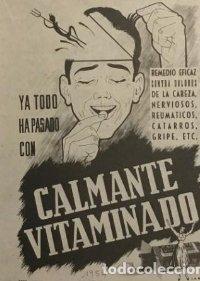 1954 Publicidad Calmante vitaminado
