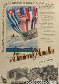 1954 Publicidad A. Monerris Planelles. Jijona. 18x25 cm