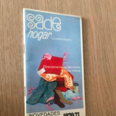 Catálogos publicitarios: SADE HOGAR. OTOÑO INVIERNO 1970/71. Lote 151381750