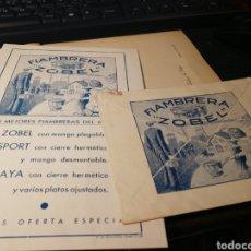Catálogos publicitarios: ZOBEL. HISPANO SUIZA DE ALUMINIO. 1936. Lote 151450889