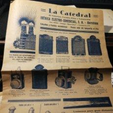 Catálogos publicitarios: LA CATREDAL. ELECTRICIDAD. PUBLICIDAD AÑOS 20-30. Lote 151451112