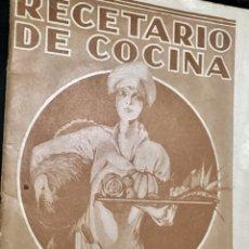 Catálogos publicitarios: RECETARIO DE COCINA. Lote 151545030