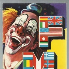 Catálogos publicitarios: PROGRAMA FESTIVAL MUNDIAL DEL CIRCO, 1978, MUY BUEN ESTADO. Lote 151727290